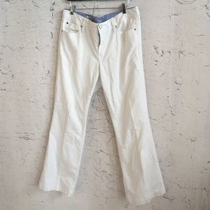 GAP WHITE JEANS LONG AND LEAN 33 / 16